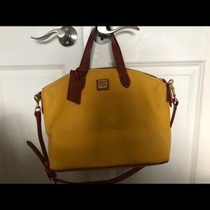 Dooney & Bourke Lemon Yellow Pebbled Leather bag